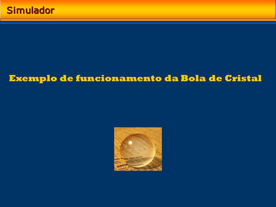 Exemplo de funcionamento da Bola de Cristal Simulador