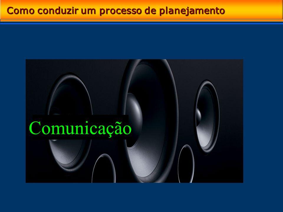 Comunicação Como conduzir um processo de planejamento