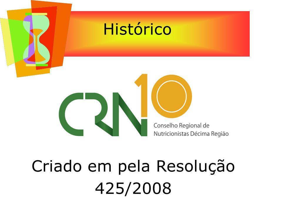 Histórico Criado em pela Resolução 425/2008
