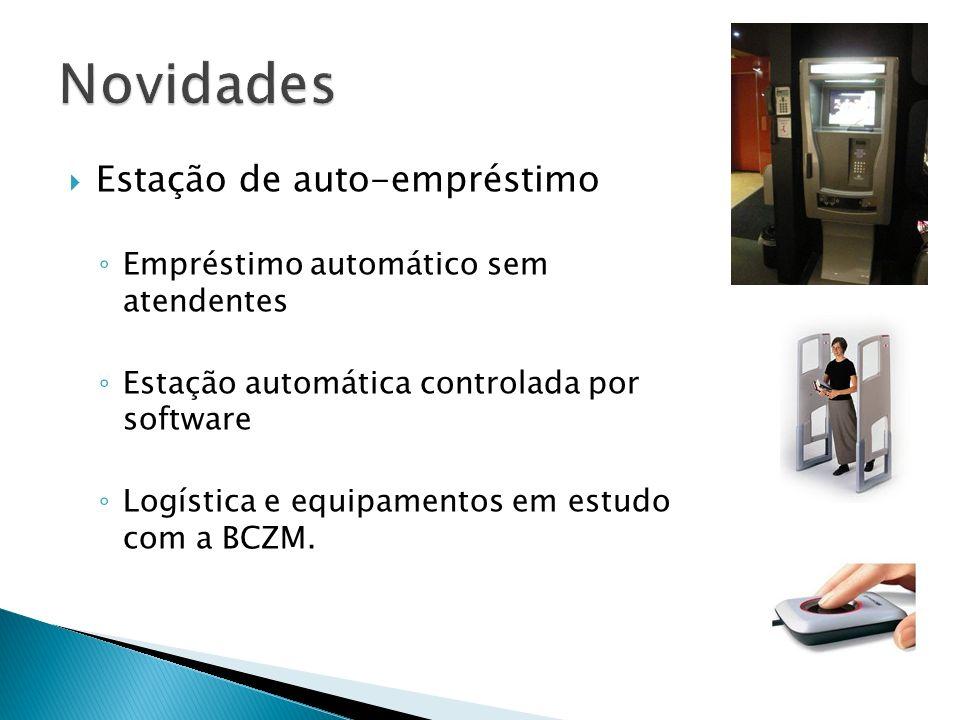 Estação de auto-empréstimo Empréstimo automático sem atendentes Estação automática controlada por software Logística e equipamentos em estudo com a BCZM.