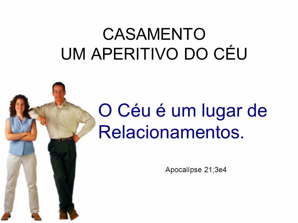 CASAMENTO UM APERITIVO DO CÉU O Céu é um lugar de Relacionamentos. Apocalípse 21;3e4