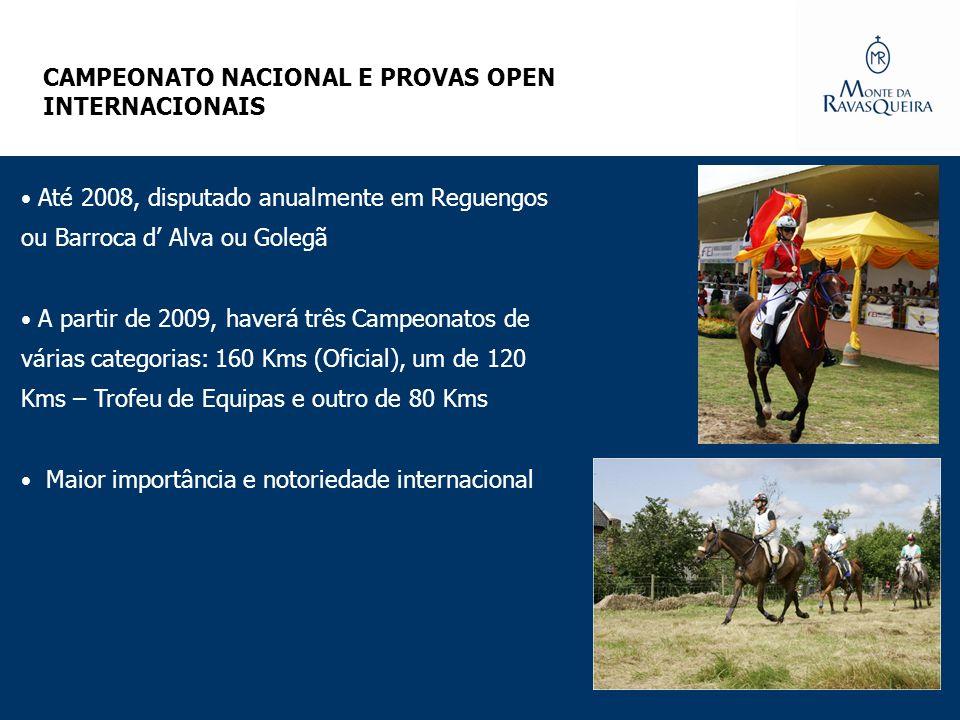 Até 2008, disputado anualmente em Reguengos ou Barroca d Alva ou Golegã A partir de 2009, haverá três Campeonatos de várias categorias: 160 Kms (Ofici