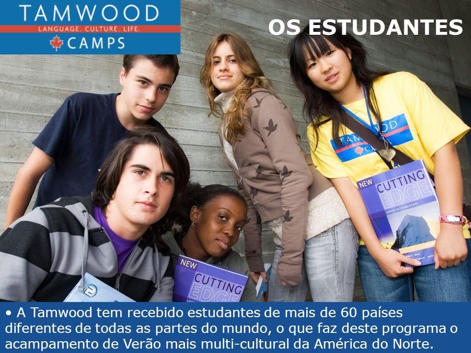 OS ESTUDANTES A Tamwood tem recebido estudantes de mais de 60 países diferentes de todas as partes do mundo, o que faz deste programa o acampamento de