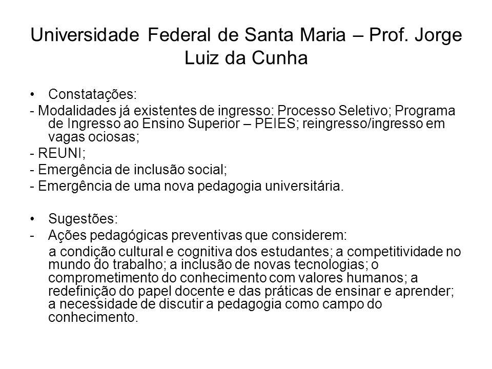 Pontifícia Universidade Católica do Rio Grande do Sul – Profa.