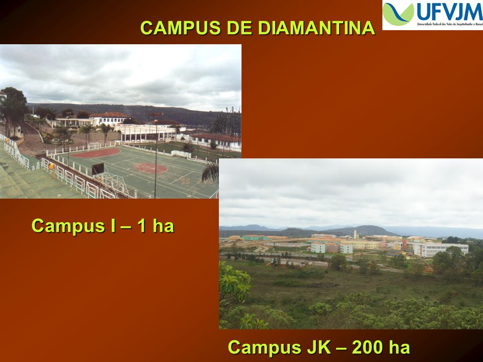 CAMPUS DE DIAMANTINA Campus JK – 200 ha Campus I – 1 ha