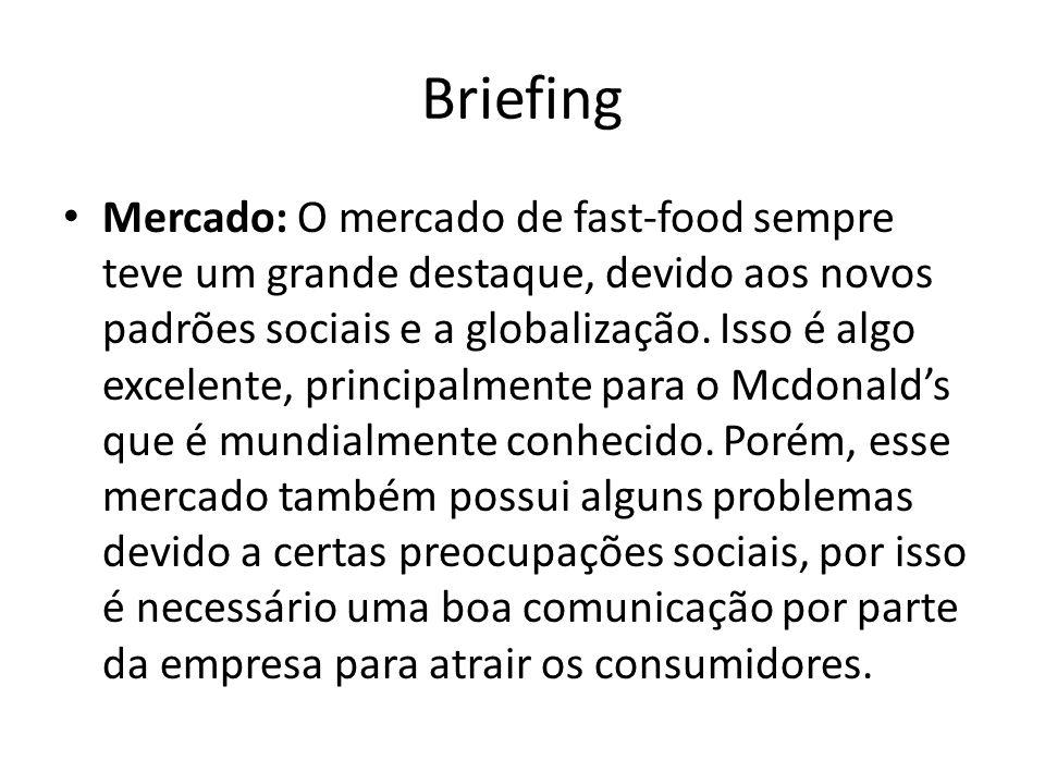 Briefing Mercado: O mercado de fast-food sempre teve um grande destaque, devido aos novos padrões sociais e a globalização. Isso é algo excelente, pri