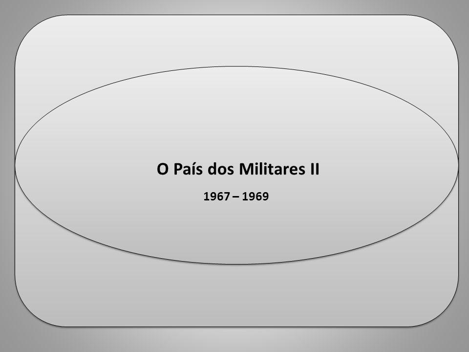 historiaula.wordpress.com Professor Ulisses Mauro Lima historiaula.wordpress.com Professor Ulisses Mauro Lima O País dos Militares II 1967 – 1969 O Pa