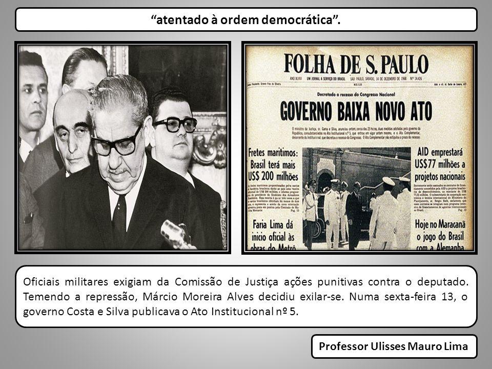 Oficiais militares exigiam da Comissão de Justiça ações punitivas contra o deputado. Temendo a repressão, Márcio Moreira Alves decidiu exilar-se. Numa