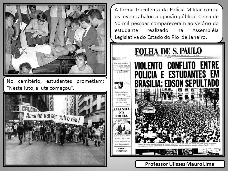A forma truculenta da Polícia Militar contra os jovens abalou a opinião pública. Cerca de 50 mil pessoas compareceram ao velório do estudante realizad