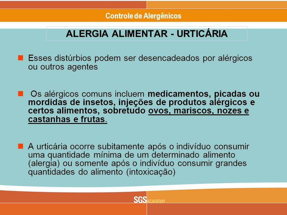 Alergênicos Slide 11 of 17 Controle de Alergênicos Esses distúrbios podem ser desencadeados por alérgicos ou outros agentes Os alérgicos comuns inclue