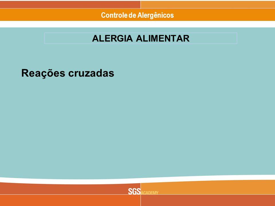Alergênicos Slide 15 of 17 Controle de Alergênicos Reações cruzadas ALERGIA ALIMENTAR