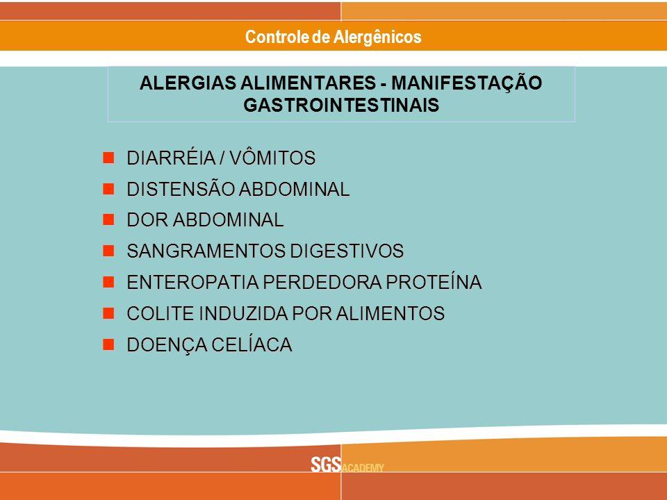 Alergênicos Slide 6 of 17 Controle de Alergênicos DIARRÉIA / VÔMITOS DIARRÉIA / VÔMITOS DISTENSÃO ABDOMINAL DISTENSÃO ABDOMINAL DOR ABDOMINAL DOR ABDO