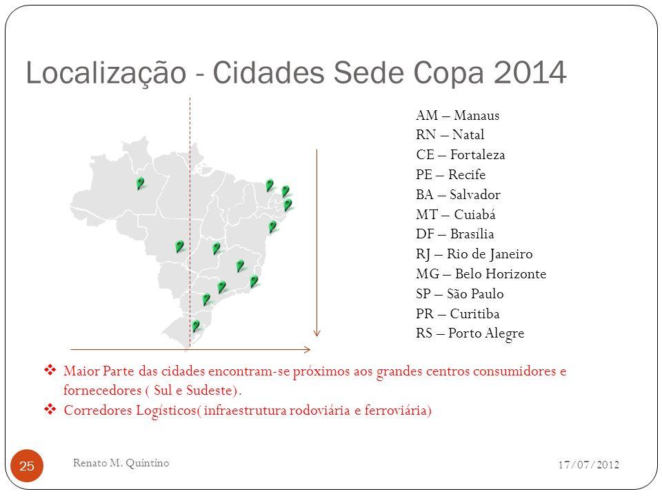 Cidade Sede : Porto Alegre - RS 17/07/2012 Renato M. Quintino 24