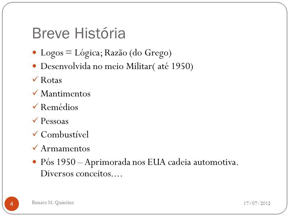 17/07/2012 Renato M. Quintino 3 O que é Logística para você????