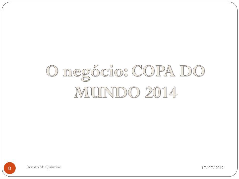 17/07/2012 Renato M. Quintino 7 LOGISTICA URBANA E A COPA DO BRASIL