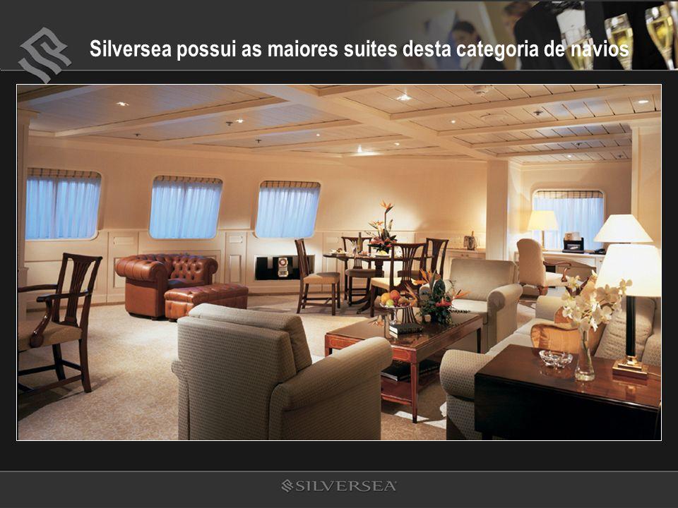 Silversea possui as maiores suites desta categoria de navios