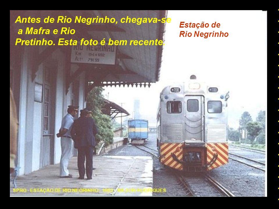 Estação de Avencal Depois vinham Barracas, Turvo e Avencal....................