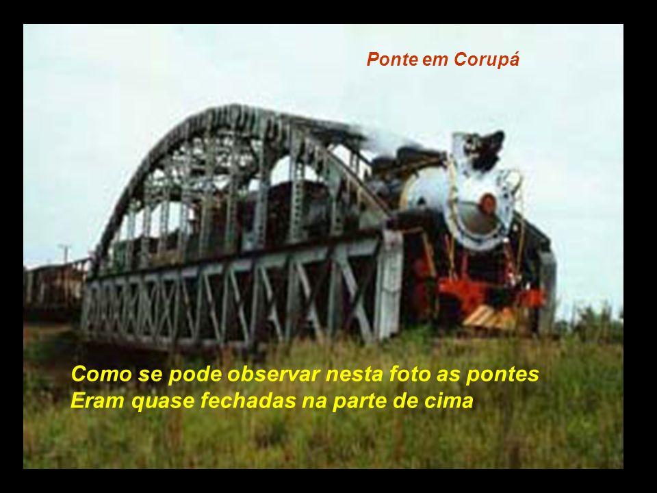 Travessia de ponte, já no trecho de serra..................