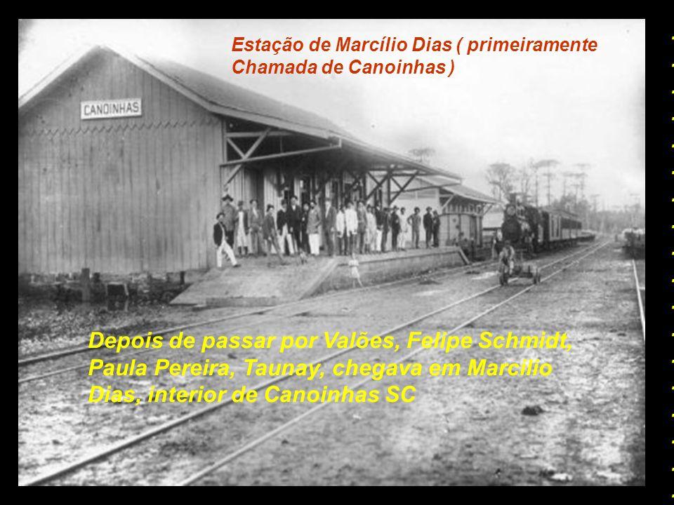 Estação de Porto União O trem de passageiros saia desta estação..................