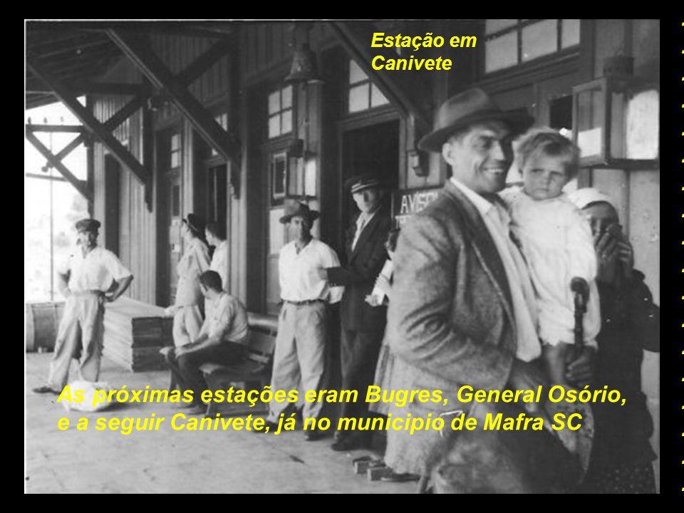 Estação em Tres Barras Depois de Marcilio Dias, a próxima estação era Tres Barras, ainda distrito de Canoinhas SC..................