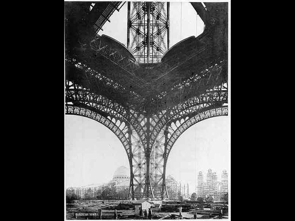 Montagem da 1ª plataforma. Março de 1888