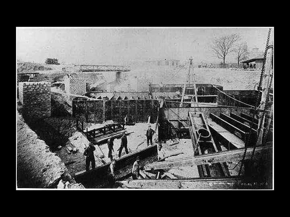 Construção das fundações para as colunas
