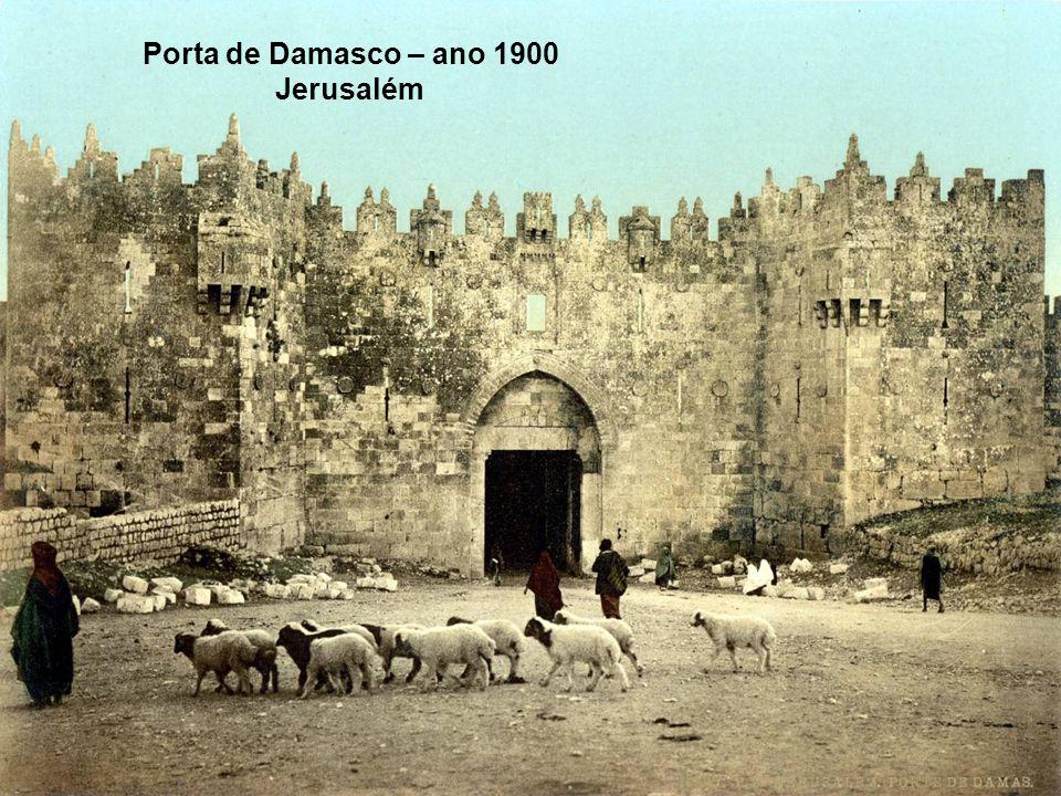 Porta de Damasco na muralha de Jerusalém