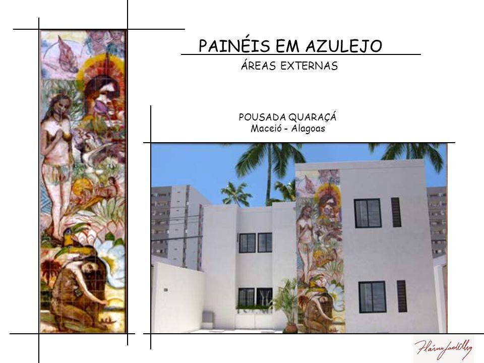 PAINÉIS EM AZULEJO ÁREAS EXTERNAS Centro Cultural Manoel Pereira Junqueiro - Alagoas