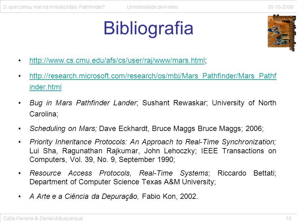 Bibliografia O que correu mal na missão Mars Pathfinder.