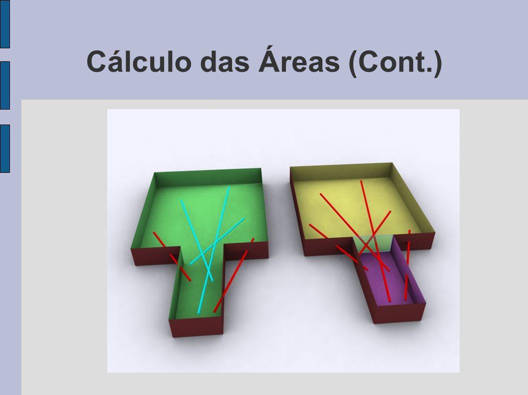 Cálculo das Áreas (Cont.)