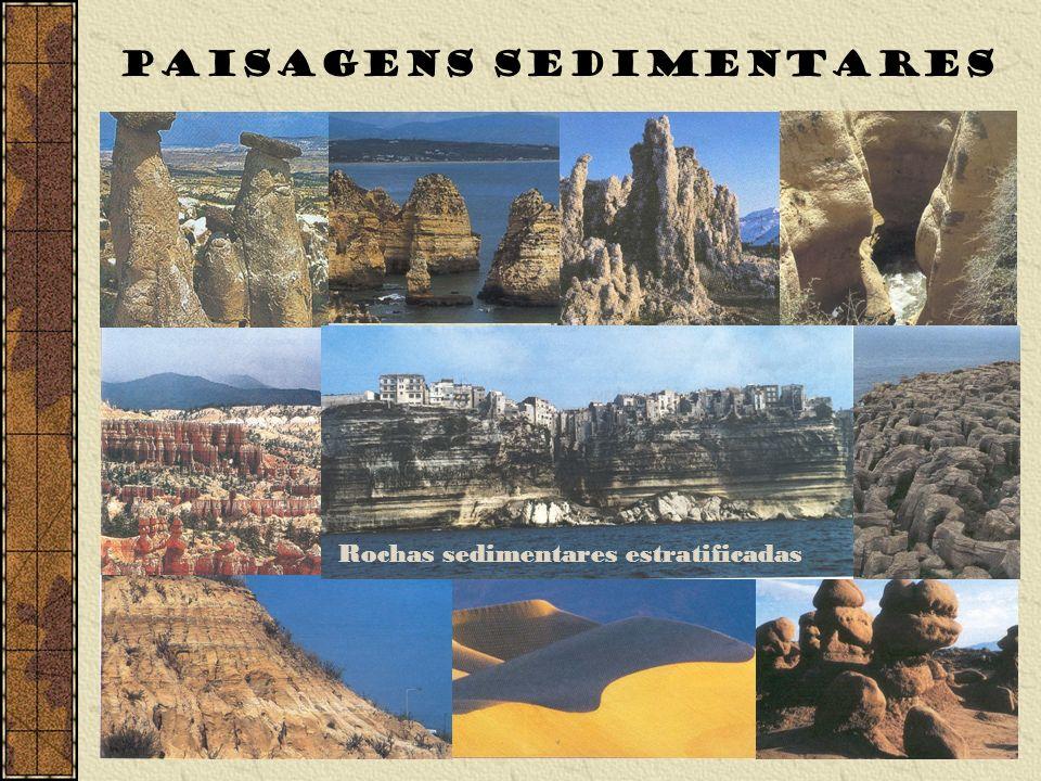 PAISAGENS SEDIMENTARES Rochas sedimentares estratificadas