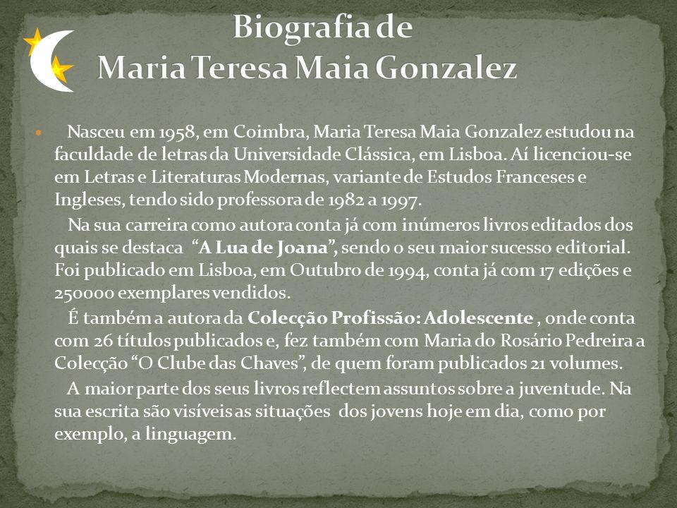 Nasceu em 1958, em Coimbra, Maria Teresa Maia Gonzalez estudou na faculdade de letras da Universidade Clássica, em Lisboa. Aí licenciou-se em Letras e
