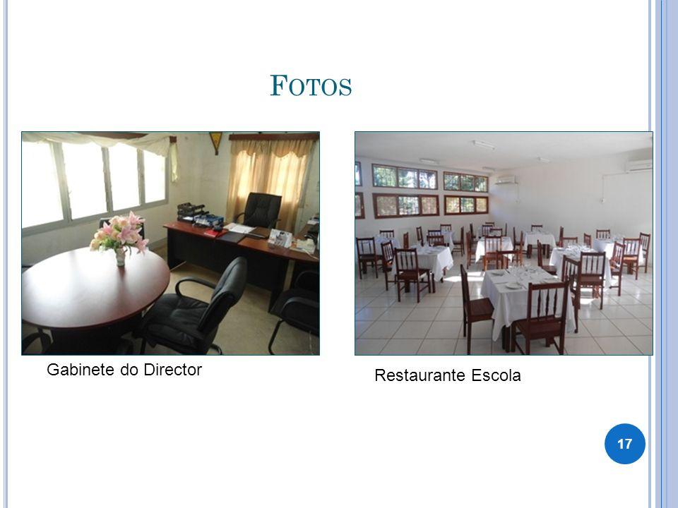 F OTOS Gabinete do Director Restaurante Escola 17