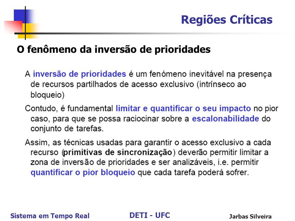 DETI - UFC Sistema em Tempo Real Jarbas Silveira Regiões Críticas O fenômeno da inversão de prioridades