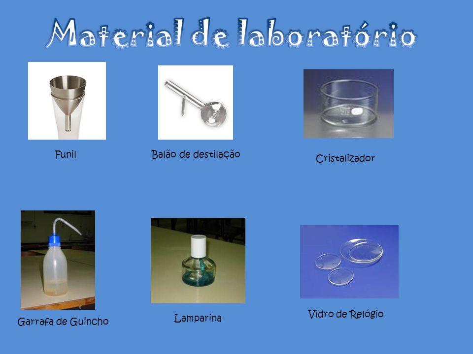 FunilBalão de destilação Cristalizador Garrafa de Guincho Lamparina Vidro de Relógio