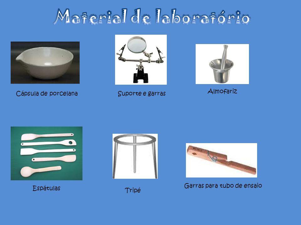Cápsula de porcelanaSuporte e garras Almofariz Tripé Espátulas Garras para tubo de ensaio