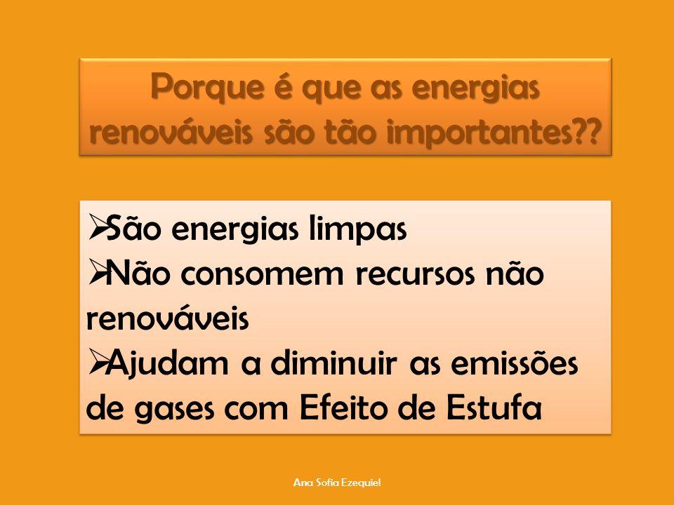 Ana Sofia Ezequiel Porque é que as energias renováveis são tão importantes?.