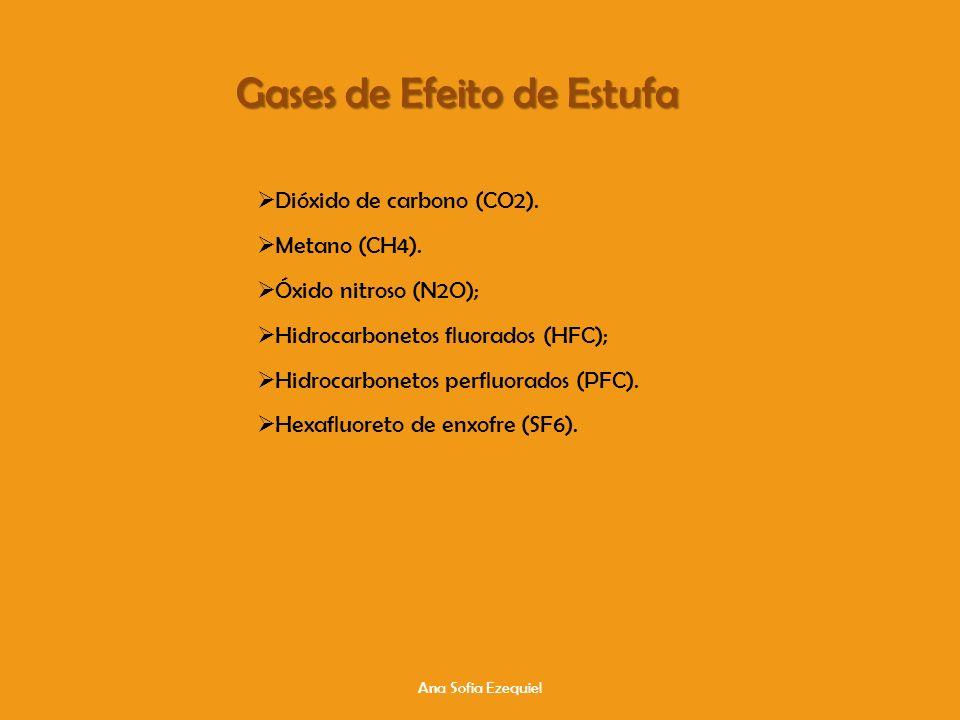 Ana Sofia Ezequiel Gases de Efeito de Estufa Dióxido de carbono (CO2).