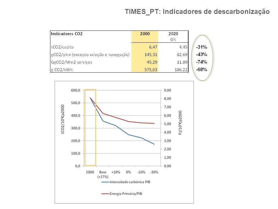 TIMES_PT: Indicadores de descarbonização