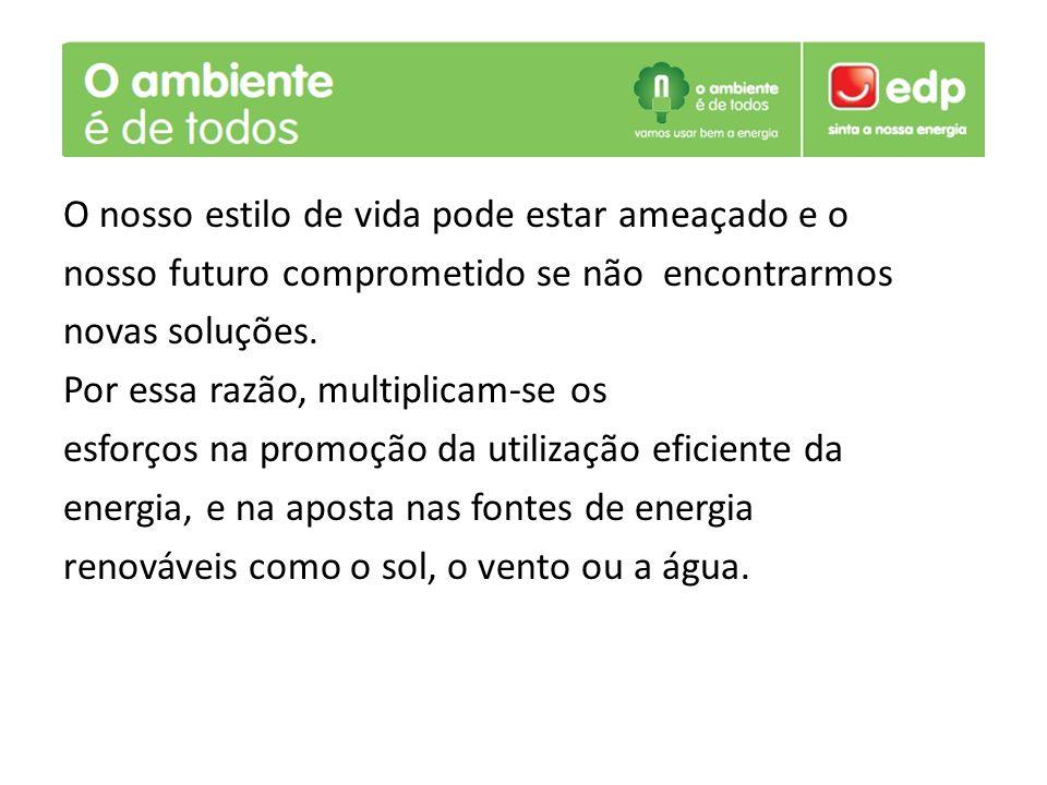 Eficiência energética pode ser definida como a optimização que podemos fazer no consumo da energia.