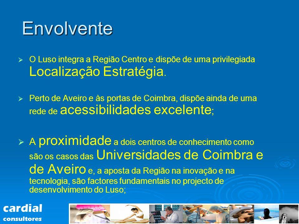 Envolvente O Luso integra a Região Centro e dispõe de uma privilegiada Localização Estratégia. Perto de Aveiro e às portas de Coimbra, dispõe ainda de