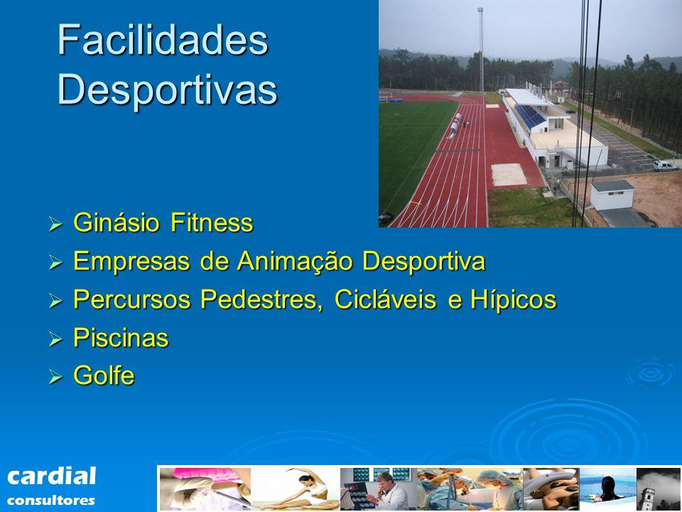 Facilidades Desportivas Ginásio Fitness Ginásio Fitness Empresas de Animação Desportiva Empresas de Animação Desportiva Percursos Pedestres, Cicláveis