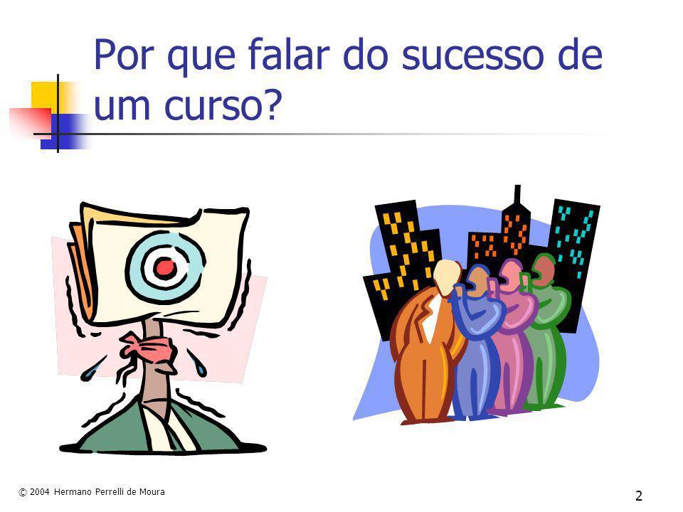 © 2004 Hermano Perrelli de Moura 2 Por que falar do sucesso de um curso?