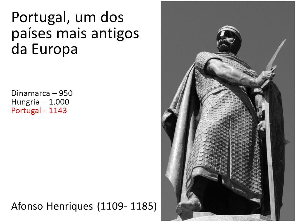 Afonso Henriques (1109- 1185) Portugal, um dos países mais antigos da Europa Dinamarca – 950 Hungria – 1.000 Portugal - 1143
