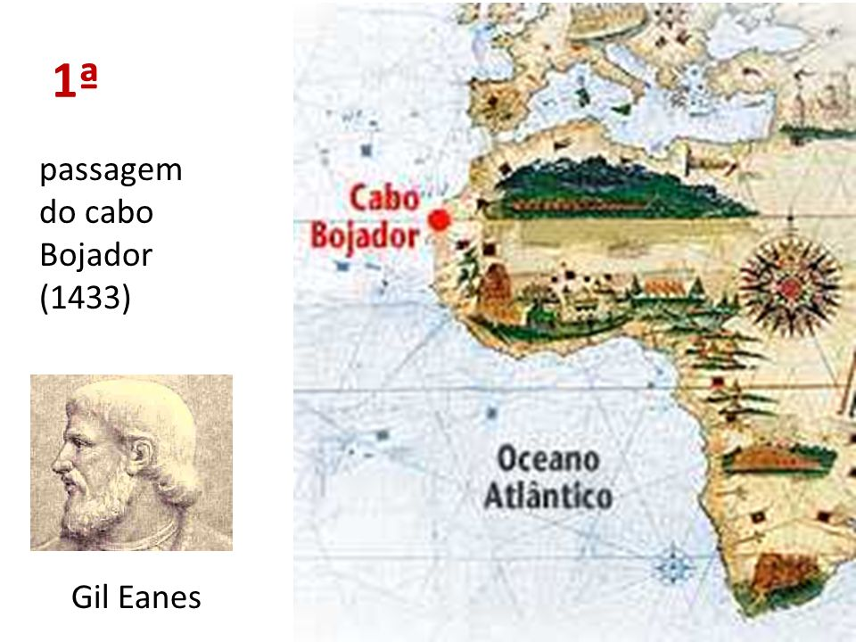 1ª passagem do cabo Bojador (1433) Gil Eanes