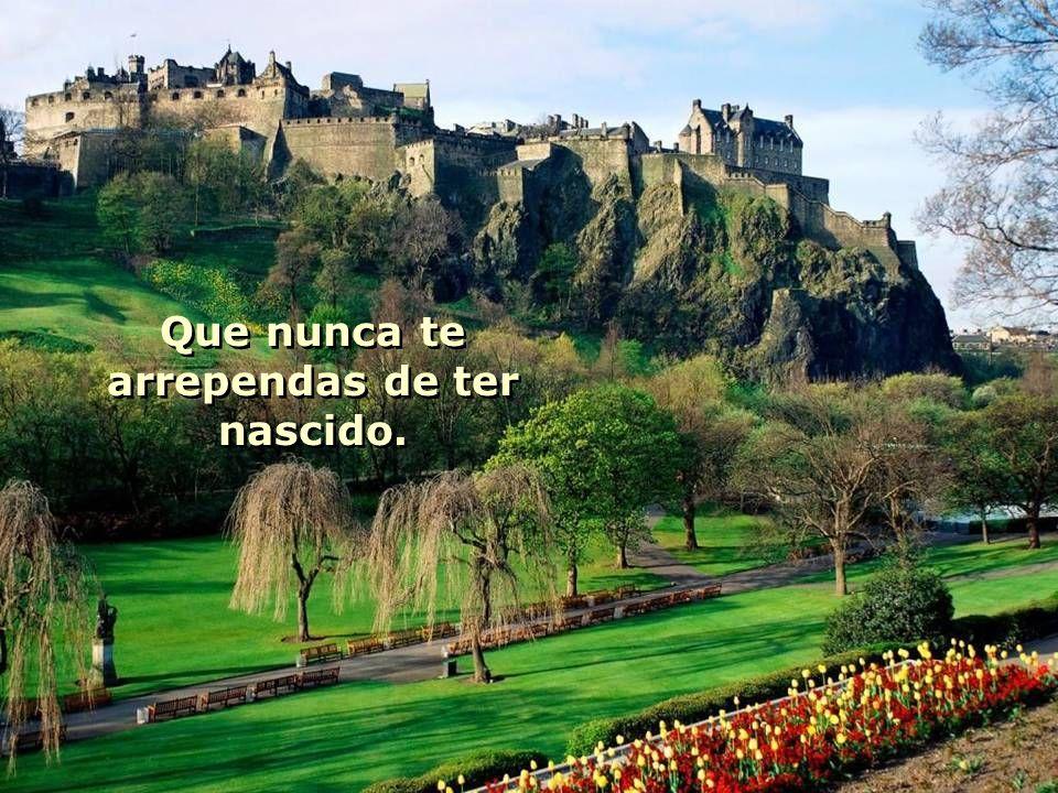 E que a sorte das colinas Celtas te abrace. E que a sorte das colinas Celtas te abrace.