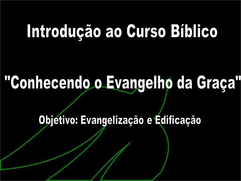 Deus lhe concedeu a oportunidade de fazer o Curso Bíblico CONHECENDO O EVANGELHO DA GRAÇA.