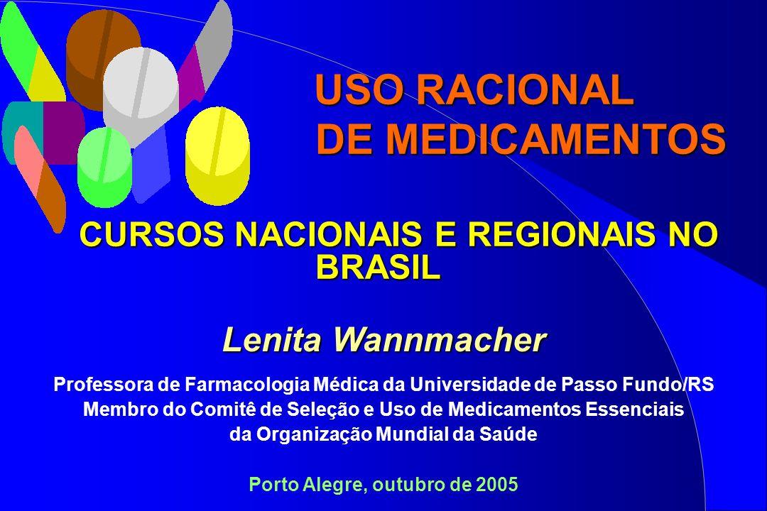 Lenita Wannmacher Professora de Farmacologia Médica da Universidade de Passo Fundo/RS Membro do Comitê de Seleção e Uso de Medicamentos Essenciais da