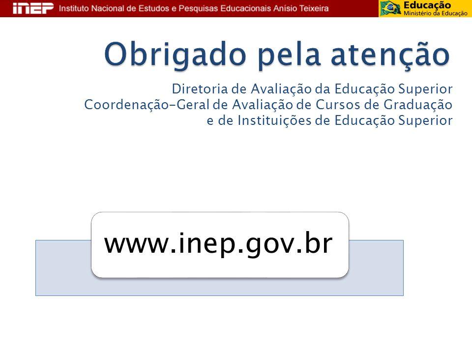 Diretoria de Avaliação da Educação Superior Coordenação-Geral de Avaliação de Cursos de Graduação e de Instituições de Educação Superior www.inep.gov.