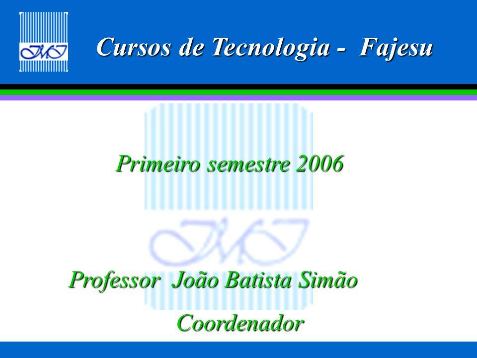 Cursos na FAJESU desde 1999 MatemáticaMatemática PedagogiaPedagogia LetrasLetras Secretariado ExecutivoSecretariado Executivo AdministraçãoAdministração Tecnologia em Redes de ComputadoresTecnologia em Redes de Computadores Tecnologia em Sistemas de InformaçõesTecnologia em Sistemas de Informações